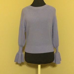 Anthropologie Lilac Purple Sweater w/ bell sleeves